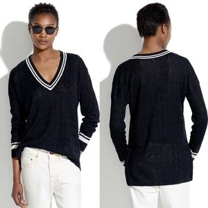 Madewell Linen Pavillion Sweater Black Size XS